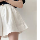 Casual pants Black, 0889 green, white S under 98 kg, m 95-108, l 105-118, XL 120-135 Summer 2020 shorts Wide leg pants High waist commute FFk4n6nBS2JJ hemp hemp