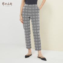 Casual pants dark grey 155/60A/XS 155/64A/S 160/68A/M 165/72A/L 170/76A/XL 175/80A/XXL Spring 2020 trousers Straight pants Natural waist commute routine 25-29 years old 51% (inclusive) - 70% (inclusive) C205M1016 Ordos, 1980 Cotton blended fabric Ol style cotton
