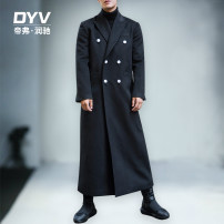 woolen coat black M L XL 2XL 3XL 4XL Fashion City Woolen cloth Winter of 2018 have more cash than can be accounted for Other leisure standard Pure e-commerce (online only) youth Lapel double-breasted tide Solid color Cloth hem