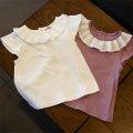 Vest sling White, purple Sleeveless 80,90,100,110,120,130 summer female lady 8 years, 9 months, 6 months, 7 years, 6 years, 5 years, 4 years, 3 years, 2 years, 18 months, 12 months