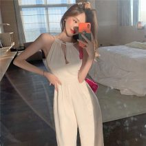 Casual pants Picture color S,M,L Spring 2021 trousers Jumpsuit High waist commute routine 18-24 years old 0308+ Other / other Retro
