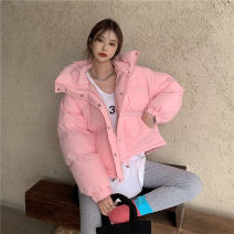 Cotton padded clothes Green, pink Average size Winter 2020 Other / other routine Long sleeves thickening zipper commute Hood routine Straight cylinder Solid color Retro 1223+ 18-24 years old