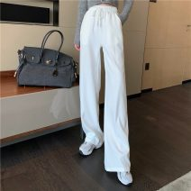 Casual pants White, black Average size Spring 2021 trousers Wide leg pants High waist commute routine 18-24 years old 0305+ Other / other Retro
