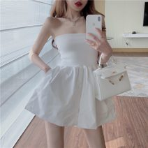 Casual pants White, black S, M Spring 2021 shorts Jumpsuit High waist commute routine 18-24 years old 0331+ Other / other Retro