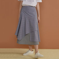 skirt Summer of 2019 S, M Gray grid, gray grid (pre-sale) Mid length dress victoria Natural waist A-line skirt lattice Type A 18-24 years old 7051 lattice 51% (inclusive) - 70% (inclusive) DIDDISTUDIO polyester fiber Stitching, patching