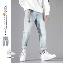 Jeans Youth fashion Yoa S,M,L,XL,2XL,3XL,4XL Light blue, light blue (plush), light blue hole, grey blue, dark blue abrasion, dark blue slim fit routine Micro bomb Regular denim K9070Z trousers Other leisure Cotton 90% polyester 7.8% others 2.2% summer teenagers middle-waisted Loose straight tube 2020