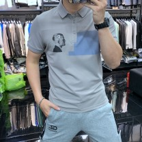 Polo shirt Other / other Youth fashion thin White, gray, black M,L,XL,2XL,3XL Self cultivation Other leisure summer Short sleeve tide routine teenagers 2021
