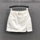 skirt Summer 2020 S M L XL 2XL White light blue black Short skirt commute High waist skirt Solid color Type A 25-29 years old Y20H4351 71% (inclusive) - 80% (inclusive) Denim AI Tianli cotton Simplicity Korean version Cotton 80% polyester 16.5% polyurethane elastic fiber (spandex) 3.5%