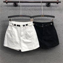 skirt Summer 2020 S M L XL 2XL White black Short skirt commute High waist A-line skirt Solid color Type A 25-29 years old Y20H4321 71% (inclusive) - 80% (inclusive) Denim AI Tianli cotton Asymmetric button in pocket Korean version Cotton 80% polyester 20% Pure e-commerce (online only)