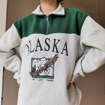 Sweater / sweater Winter 2020 grey S,M,L Long sleeves routine Socket singleton  routine High collar easy street other 18-24 years old 81% (inclusive) - 90% (inclusive) InstaHot cotton GJ-01 printing cotton Cotton liner zipper Europe and America