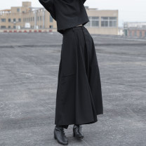 Casual pants black Average size Autumn of 2018 Ninth pants Wide leg pants Natural waist commute routine 25-29 years old 96% and above NQ180105105 Prefer to be short of polyester fiber pocket polyester fiber