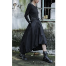 skirt Autumn 2019 longuette Retro Lantern skirt High waist Solid color cotton Type A NQ190117129 18-24 years old One size fits all black