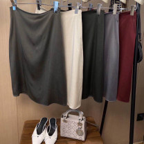 skirt Spring 2021 S,M,L,XL Black, white, champagne, pearly grey Middle-skirt Versatile High waist A-line skirt Solid color Type A 25-29 years old 81% (inclusive) - 90% (inclusive) Silk and satin Cellulose acetate 401g / m ^ 2 (inclusive) - 500g / m ^ 2 (inclusive)