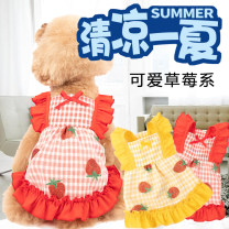 Pet clothing / raincoat currency Dress Other / other princess Red, yellow