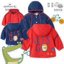Plain coat Hallmark neutral 80cm 90cm 100cm 110cm 120cm 130cm Bright red denim No detachable cap Pure cotton (100% cotton content) HJ6B1510K Cotton 100% Autumn 2020
