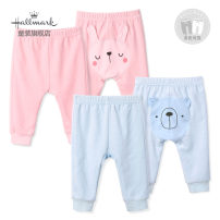 trousers Hallmark male 66cm 73cm 80cm 90cm 100cm Pink Blue winter trousers leisure time Big PP pants Leather belt middle-waisted cotton Don't open the crotch Cotton 75% polyester 25% HH3N0117B Class A HH3N0117B 3 months 12 months 6 months 18 months 2 years 3 years old