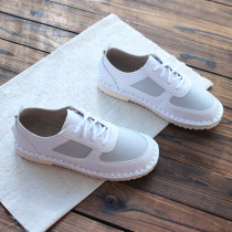 Low top shoes 35 36 37 38 39 40 Other / other Pink Beige grey black Round head Flat bottom PU Deep mouth Low heel (1-3cm) PU Spring of 2018 Frenulum Mori Sewing shoes Color matching rubber daily Face dressing
