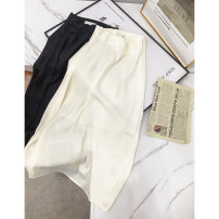 skirt Autumn 2020 S, M Apricot skirt, black skirt Middle-skirt commute High waist A-line skirt Solid color 18-24 years old 30% and below other Other / other other Korean version