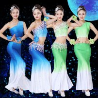 National costume / stage costume Summer of 2019 Shredded milk blue 1 shredded milk Blue 2 shredded milk green 1 shredded Milk Green 2 XXS XS S M L XL XXL Sado rhyme 25-35 years old Polyester 100% Same model in shopping mall (sold online and offline)