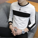 T-shirt Youth fashion 7193 white 7193 black 7193 green routine M L XL 3XL XXL Zojech Long sleeves Crew neck Self cultivation Other leisure autumn Cotton 68.6% polyester 27.9% polyurethane elastic fiber (spandex) 3.5% teenagers routine tide Summer of 2018 lattice Assembly Geometric pattern