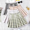 skirt Summer of 2019 XS S M L XL XXL Short skirt Versatile High waist Pleated skirt lattice Type A 18-24 years old 71% (inclusive) - 80% (inclusive) brocade Yingxuan (clothing) polyester fiber fold Polyester 80% cotton 17% polyurethane elastic fiber (spandex) 3% Pure e-commerce (online only)