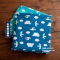 Fabric / fabric / handmade DIY fabric cotton [01] lake green x half yard, [02] blue x half yard Loose shear piece Cartoon animation printing and dyeing clothing Japan and South Korea Noisy home 100%
