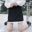 skirt Winter 2020 S, M Woven small black skirt (in stock), woven small black skirt (pre-sale) Short skirt Versatile High waist A-line skirt Solid color Type A 18-24 years old 91% (inclusive) - 95% (inclusive) other polyester fiber Fungus, wave, zipper