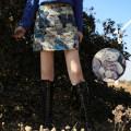 skirt Spring 2021 S, M Blue Bear hip skirt (in stock), blue bear hip skirt (pre-sale) Short skirt Versatile High waist A-line skirt Cartoon animation Type A 18-24 years old zipper