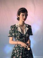 Dress Spring 2020 green S,M,L Middle-skirt singleton  Short sleeve Sweet V-neck High waist Decor zipper Lotus leaf sleeve seachiko