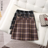 skirt Autumn 2020 XS S M L XL 2XL 3XL Short skirt commute High waist A-line skirt lattice Type A 25-29 years old 51% (inclusive) - 70% (inclusive) Wool Yizhi wool Retro Wool 60% polyester 40% Pure e-commerce (online only)