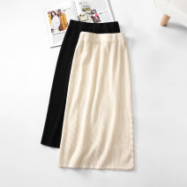 skirt Winter 2020 Average size Black apricot longuette commute High waist skirt Solid color Type A 25-29 years old 31% (inclusive) - 50% (inclusive) knitting Yizhi Viscose Splicing Viscose (viscose) 50% polyester 30% polyamide (nylon) 20%