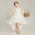 Children's dress White front short back long white long white short white tail female 90cm 100cm 110cm 120cm 130cm 140cm 150cm 160cm Galadin full dress L582 Class B other Polyester 90% other 10% Summer of 2019 other