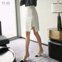 skirt Autumn of 2018 S M L XL Off white Middle-skirt commute High waist Solid color 25-29 years old PD80985 More than 95% Pu Dian other Simplicity Other 100% Pure e-commerce (online only)