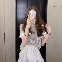 Professional dress suit S,M,L,XL White short sleeve + skirt Summer of 2019