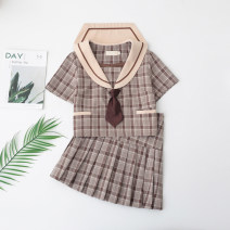 student uniforms Spring of 2019 Gag (top) safety pants gag (skirt) S XL L M XXL Long sleeves skirt 18-25 years old Emoney polyester S54 Polyester 80% cotton 20%