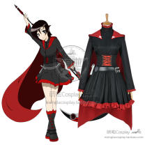 Cosplay women's wear skirt Customized Over 8 years old Women's (European) Dress comic M,S,XL Cute Europe and America RWBY Rwby Ruby Rose cos