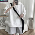 Sweater Youth fashion Mingjue CS17 / white CS17 / Khaki S M L XL Solid color Socket Thin money Hood summer easy leisure time teenagers Japanese Retro routine MJ-CS17-45 Fleece  Cotton 100% cotton Drawstring washing Summer 2020 More than 95% Kangaroo pocket Pure e-commerce (online only) simple style