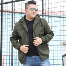 Jacket Other / other Youth fashion thin easy Other leisure spring Polyester 100% Long sleeves Wear out Hood tide Large size routine Zipper placket No iron treatment