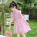 Dress Crescent white light pink female Basil bean 130cm 140cm 150cm 160cm 170cm Polyester 100% summer Korean version Skirt / vest other other A-line skirt Class B Summer 2021 Chinese Mainland