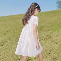 Dress Dress female Basil bean 120cm 130cm 140cm 150cm 160cm 170cm Other 100% summer Korean version Short sleeve Solid color other A-line skirt X66 Class B Summer 2021 Chinese Mainland Zhejiang Province Taizhou City