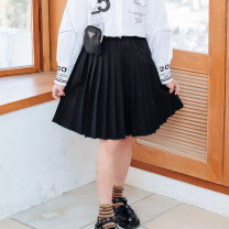 skirt 110cm 120cm 130cm 140cm 150cm 160cm 170cm black Basil bean female Other 100% spring and autumn skirt commute Solid color other C026zly Class B Spring 2021