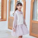 Dress female Basil bean 110cm 120cm 130cm 140cm 150cm 160cm Other 100% spring and autumn Korean version Long sleeves lattice other A-line skirt C003 Class B Spring 2021 Chinese Mainland Zhejiang Province Taizhou City