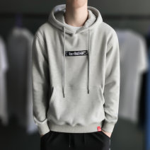 Sweater Youth fashion M L XL 2XL 3XL other Socket Hood autumn Slim fit leisure time Basic public routine Embroidery Autumn 2020 Kangaroo pocket simple style
