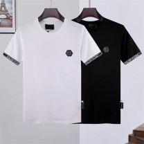 T-shirt Fashion City White, black routine M,L,XL,2XL,3XL Others Short sleeve Crew neck standard Other leisure summer