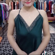 Vest sling Summer of 2019 Light dark green vest, black vest, noble yellow sling, green sling, blue sling XS,S,M,L,XL singleton  routine Self cultivation Ruili camisole Solid color 35-39 years old 96% and above other Lace 401g / m ^ 2 (inclusive) - 500g / m ^ 2 (inclusive)