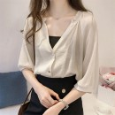 Women's large Summer 2021 White (for breast wrapping) apricot (for breast wrapping) S M L XL 2XL singleton  commute Socket Solid color Korean version Eunhuai 18-24 years old Other 100% Pure e-commerce (online only)