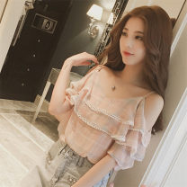 T-shirt S M L XL XXL Summer of 2018 Sleeveless Crew neck Self cultivation Regular routine commute other 96% and above 18-24 years old Korean version originality Mi Jiaqi Other 100%