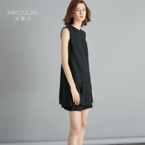 Dress Spring 2020 black S M L Short skirt singleton  Sleeveless street Crew neck middle-waisted Solid color zipper One pace skirt other Others 30-34 years old Micora Stitching zipper HL-1936 51% (inclusive) - 70% (inclusive) wool Wool 60% viscose 40% Pure e-commerce (online only) Europe and America