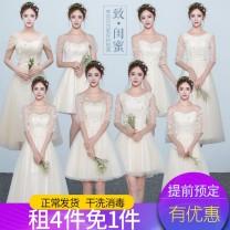 Dress / evening wear Wedding, adulthood, party, company annual meeting, show, date XXL,XXXL,S,M,L,XL Summer 2020 zipper Netting
