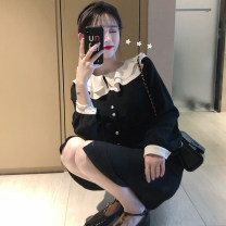 Scarf / silk scarf / Shawl other Black s black m black l Black XL female Solid color Geessoew / geese Spring 2021